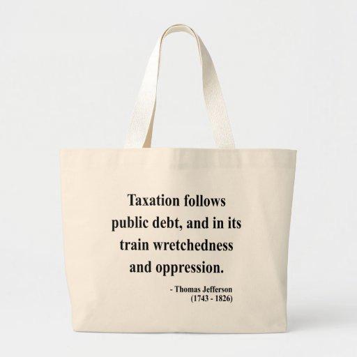 Thomas Jefferson Quote 17a Canvas Bags