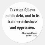 Thomas Jefferson Quote 17a Stickers