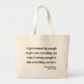 Thomas Jefferson Quote 1a Canvas Bag