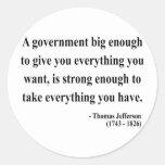 Thomas Jefferson Quote 1a Classic Round Sticker