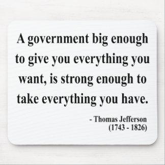 Thomas Jefferson Quote 1a Mouse Pad