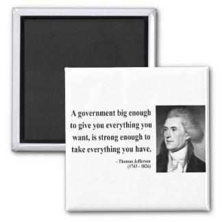 Thomas Jefferson Quote 1b 2 Inch Square Magnet
