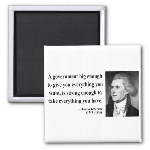 Thomas Jefferson Quote 1b 2 Inch Square Magnet