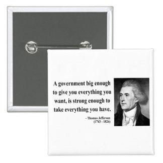 Thomas Jefferson Quote 1b 2 Inch Square Button