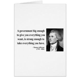 Thomas Jefferson Quote 1b Card