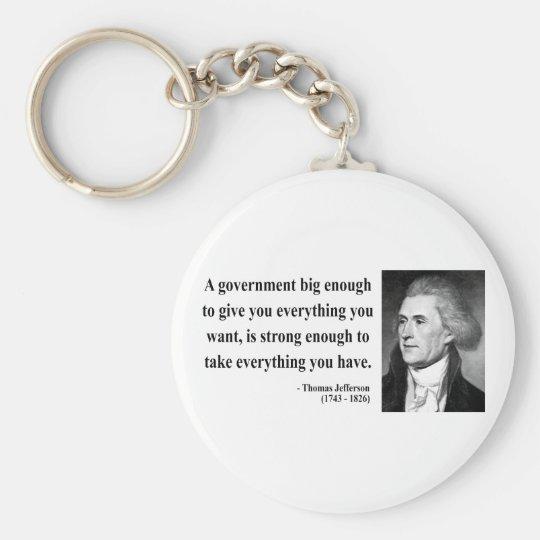 Thomas Jefferson Quote 1b Keychain