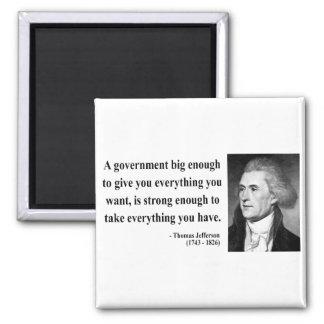 Thomas Jefferson Quote 1b Fridge Magnet