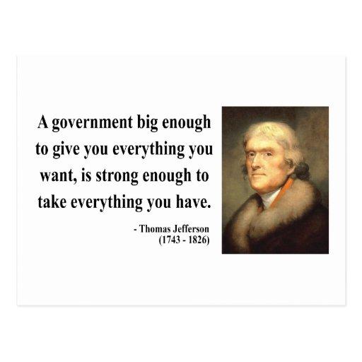 Thomas Jefferson Quote 1c Postcards