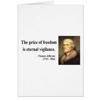 Thomas Jefferson Quote 2c Card