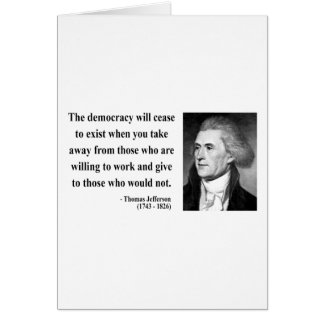 Thomas Jefferson Quote 3b Card