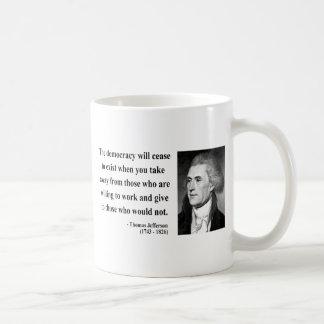 Thomas Jefferson Quote 3b Coffee Mug