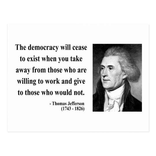 Thomas Jefferson Quote 3b Postcard