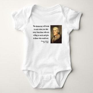 Thomas Jefferson Quote 3c Baby Bodysuit