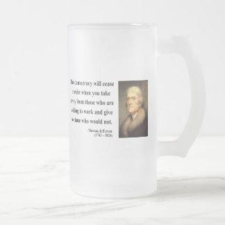 Thomas Jefferson Quote 3c Coffee Mugs