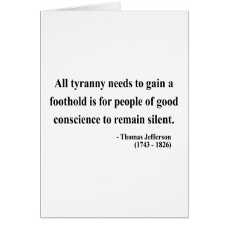 Thomas Jefferson Quote 4a Card