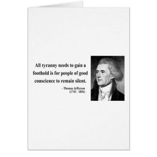 Thomas Jefferson Quote 4b Card