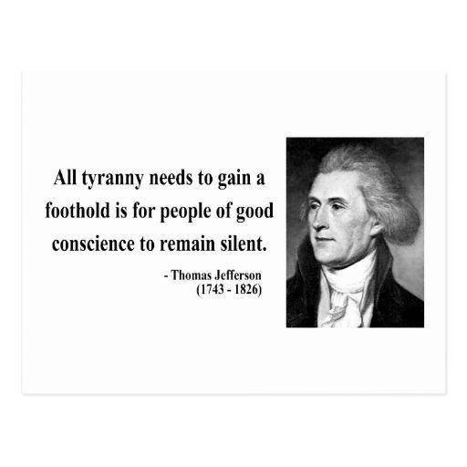 Thomas Jefferson Quote 4b Postcard