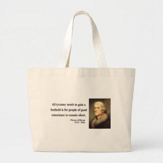 Thomas Jefferson Quote 4c Large Tote Bag
