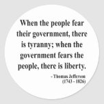 Thomas Jefferson Quote 5a Classic Round Sticker