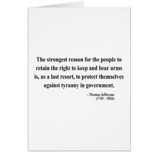 Thomas Jefferson Quote 6a Card