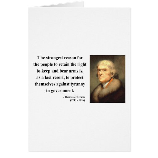Thomas Jefferson Quote 6c Greeting Card
