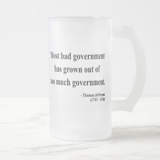 Thomas Jefferson Quote 7a Frosted Glass Beer Mug