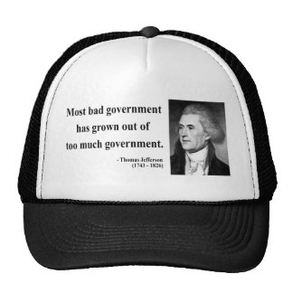 Thomas Jefferson Quote 7b Hats