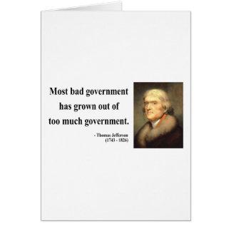 Thomas Jefferson Quote 7c Card