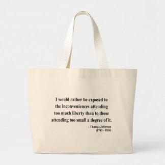Thomas Jefferson Quote 8a Tote Bag