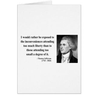 Thomas Jefferson Quote 8b Card