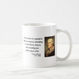 Thomas Jefferson Quote 8c Classic White Coffee Mug