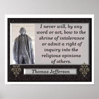 Thomas Jefferson quote -art print