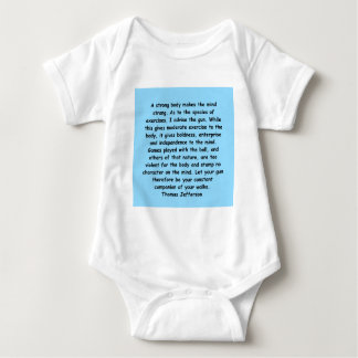 thomas jefferson quote baby bodysuit