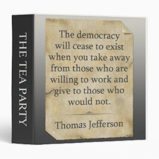 Thomas Jefferson Quote 3 Ring Binder