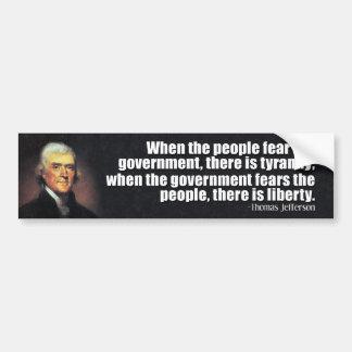 Thomas Jefferson Quote Bumper Stickers
