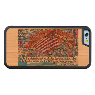 Thomas Jefferson Quote Carved Cherry iPhone 6 Bumper Case