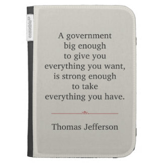 Thomas Jefferson Quote Kindle 3 Cover