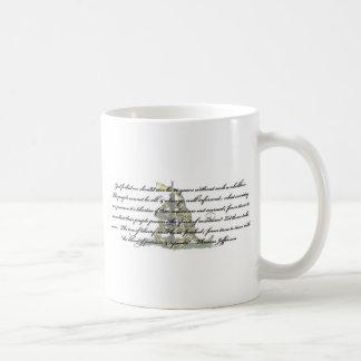Thomas Jefferson Quote Classic White Coffee Mug