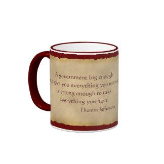 Thomas Jefferson Quote Coffee Mug