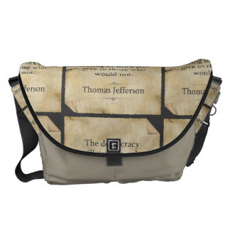 Thomas Jefferson Quote Courier Bag