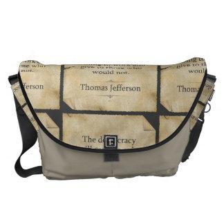 Thomas Jefferson Quote Courier Bag