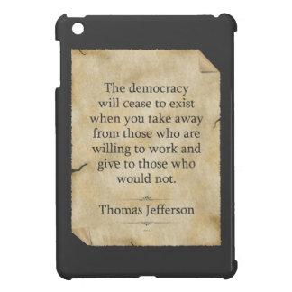 Thomas Jefferson Quote Cover For The iPad Mini