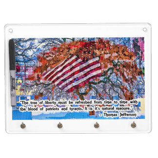 Thomas Jefferson Quote Dry Erase Board With Keychain Holder