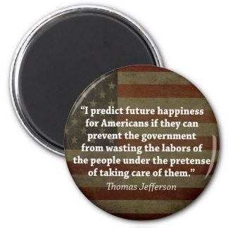 Thomas Jefferson Quote Fridge Magnet