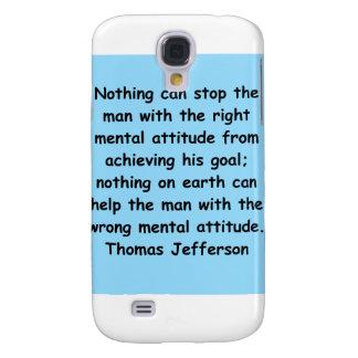 thomas jefferson quote galaxy s4 case