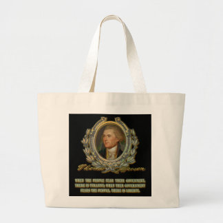 Thomas Jefferson Quote:  Government & the People Bag