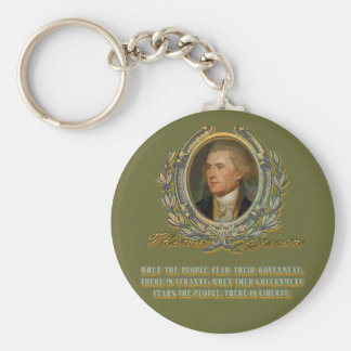 Thomas Jefferson Quote:  Government & the People Keychain
