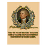 Thomas Jefferson Quote: Government & the People Post Card