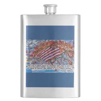 Thomas Jefferson Quote Hip Flask