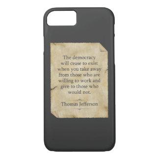 Thomas Jefferson Quote iPhone 7 Case